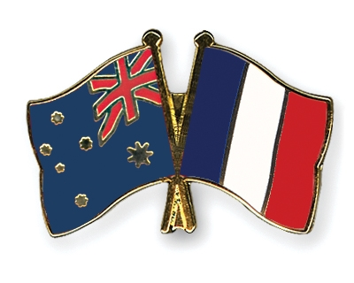 Crossed-Flag-Pins Australia-France