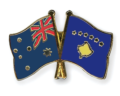 Crossed-Flag-Pins Australia-Kosovo