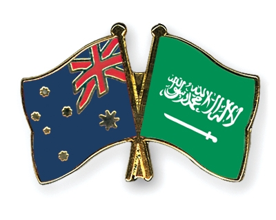 Crossed-Flag-Pins Australia-Saudi-Arabia