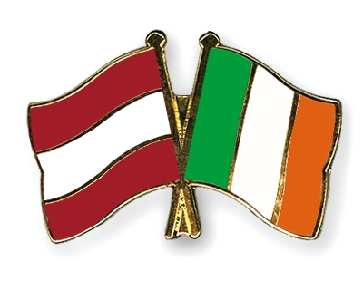Crossed-Flag-Pins Austria-Ireland