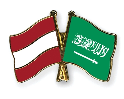 Crossed-Flag-Pins Austria-Saudi-Arabia