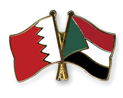Crossed-Flag-Pins Bahrain Sudan