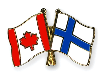 Crossed-Flag-Pins Canada-Finland