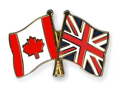 Crossed-Flag-Pins Canada-Great-Britain
