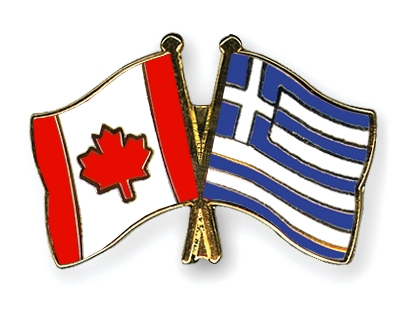 Crossed-Flag-Pins Canada-Greece