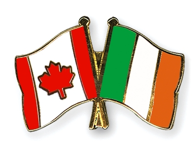 Crossed-Flag-Pins Canada-Ireland