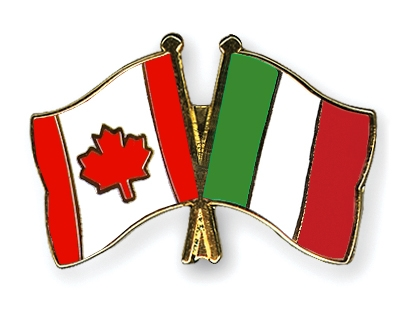 Crossed-Flag-Pins Canada-Italy