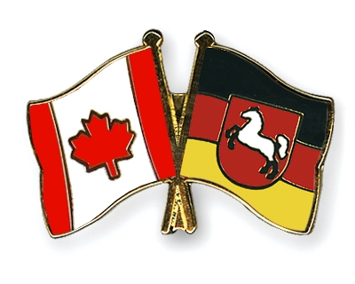 Crossed-Flag-Pins Canada-Lower-Saxony
