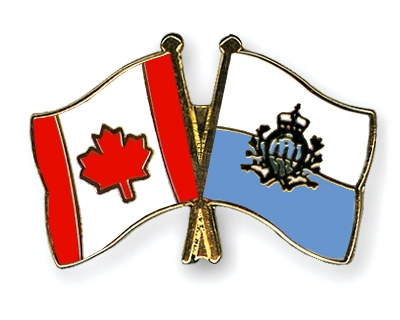 Crossed-Flag-Pins Canada-San-Marino