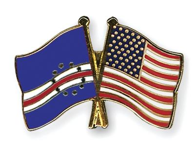 Crossed Flag Pins Cape Verde Usa