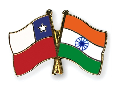 crossed flag pins chile india flags