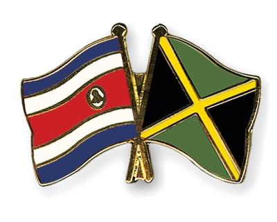 Crossed Flag Pins Costa Rica Jamaica