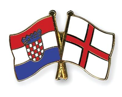 Crossed Flag Pins Croatia England Flags