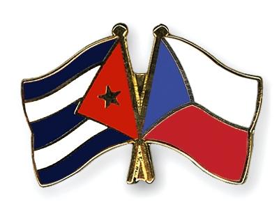 Crossed Flag Pins Cuba Czech Republic