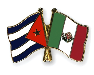 mexico flag. Crossed-Flag-Pins Cuba Mexico