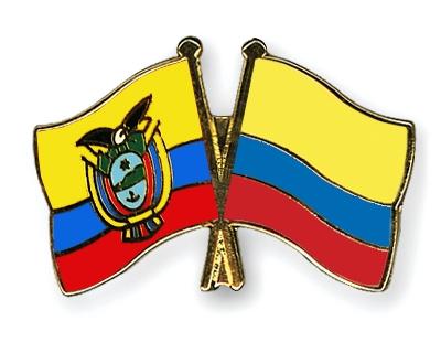 Crossed-Flag-Pins Ecuador Colombia