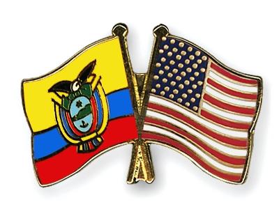 Crossed Flag Pins EcuadorUSA Flags - Ecuador flags
