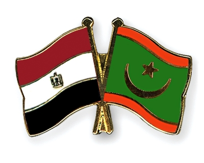 Mauritania on Friendship Pins With The Flags Of Egypt And Mauritania