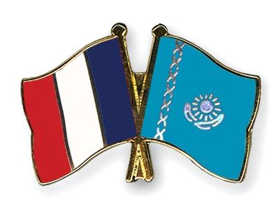 opération - Dossier : Opération Kazakhstan, nouvel eldorado mondial et de la France ! Flag-Pins-France-Kazakhstan