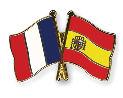 French-Spanish flags