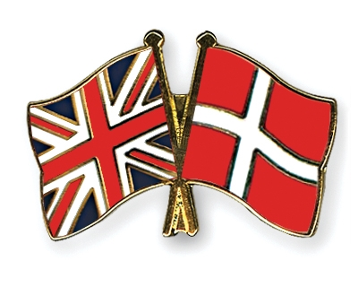 Danish and British flags