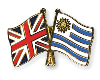 Image result for Uruguay and united kingdom flag