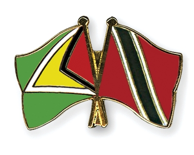 Friendship Pins with the flags of Guyana and Trinidad-and-Tobago