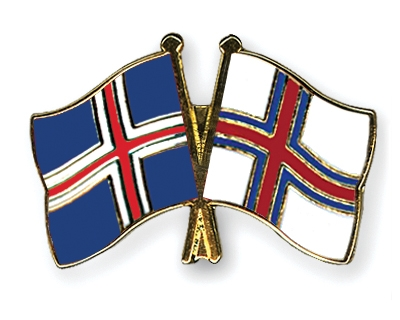 Crossed-Flag-Pins Iceland-Faeroe-Islands