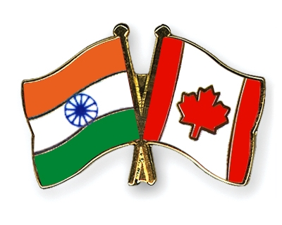 Crossed-Flag-Pins India Canada