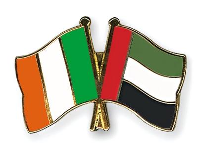 crossed flag pins ireland united arab emirates flags