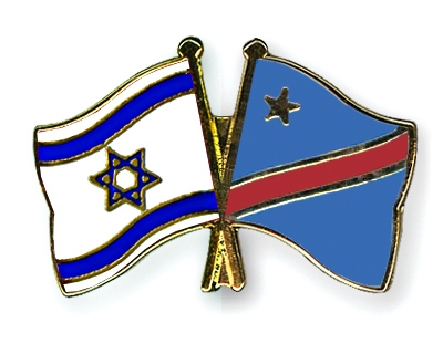 Crossed-Flag-Pins Israel-Democratic-Republic-of-the-Congo