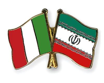 Crossed-Flag-Pins Italy Iran