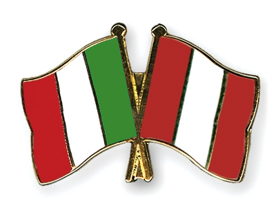italy flag. Crossed-Flag-Pins Italy Peru