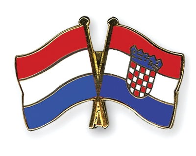 Crossed-Flag-Pins Netherlands-Croatia