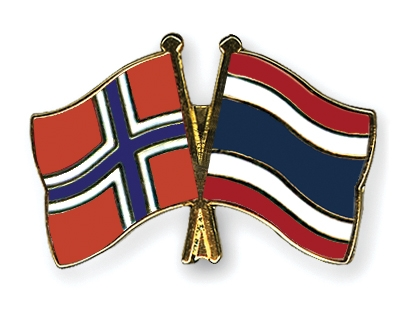 Crossed-Flag-Pins Norway-Thailand