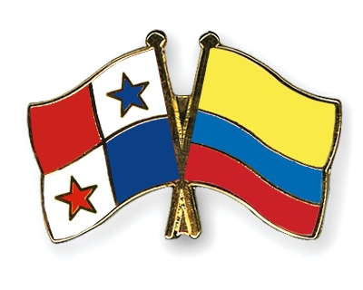 Crossed Flag Pins PanamaColombia Flags - Panama flags