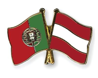 Crossed-Flag-Pins Portugal-Austria