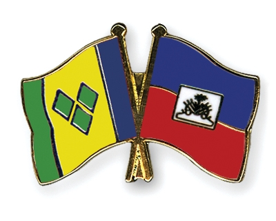 Crossed Flag Pins Saint-Vincent-and-the-Grenadines-Haiti Flags