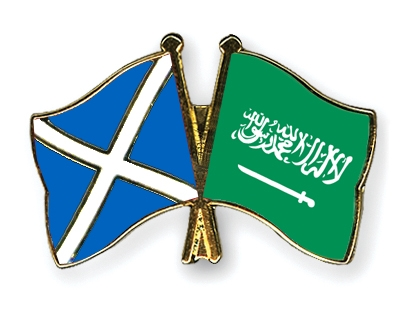 Crossed-Flag-Pins Scotland-Saudi-Arabia
