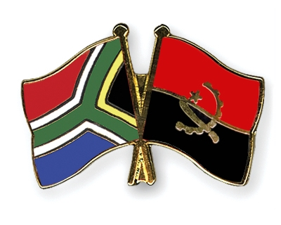 Crossed Flag Pins SouthAfricaAngola Flags
