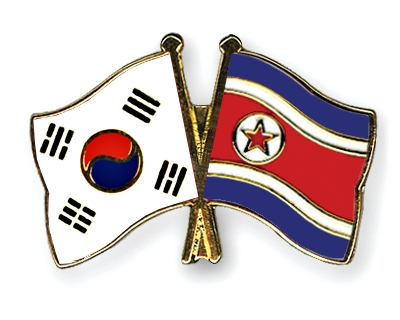 the north korean flag. Crossed-Flag-Pins South-Korea