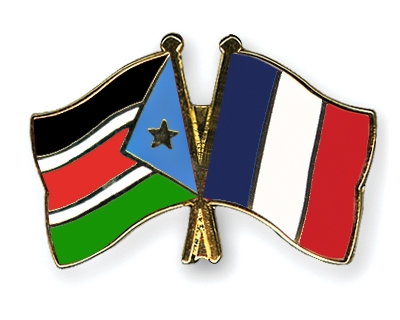 Crossed-Flag-Pins South-Sudan-France