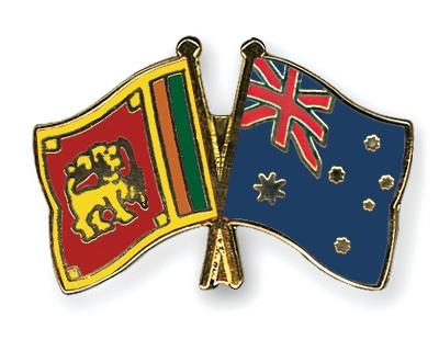 Crossed Flag Pins Sri Lanka Australia