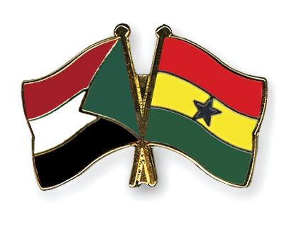 بانوراما صقور الجديان ولقاء الحسم مع الغاني Flag-Pins-Sudan-Ghana