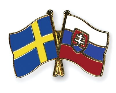 Crossed-Flag-Pins Sweden-Slovakia