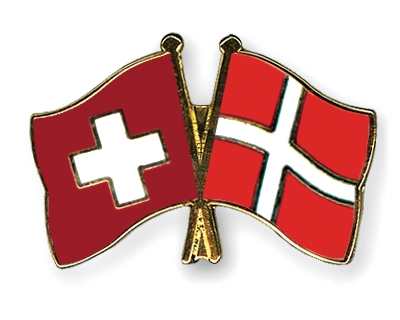 Crossed Flag Pins SwitzerlandDenmark Flags - Denmark flags
