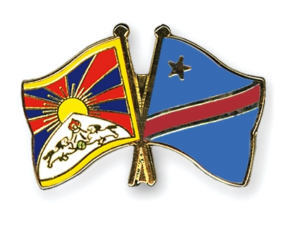 crossed flag pins tibet democratic republic of the congo flags