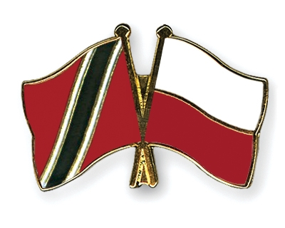 Friendship Pins with the flags of Trinidad-and-Tobago and Poland