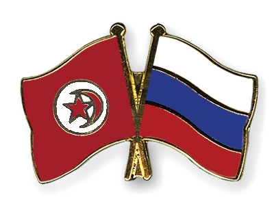 Crossed-Flag-Pins Tunisia Russia