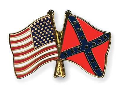 crossed flag pins usa confederate battle flags